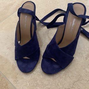 Charles David Blue Suede Sandals